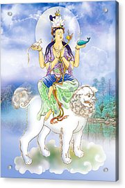 Acrylic Print featuring the photograph Abhetri Kuan Yin  by Lanjee Chee
