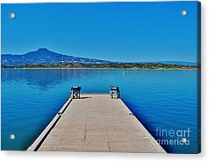 Abiquiu Lake Acrylic Print by William Wyckoff