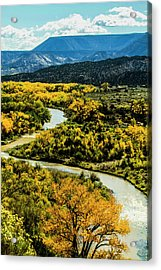 Abiquiu, New Mexico, Curvy Chama River Acrylic Print