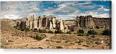 Abiquiu New Mexico Plaza Blanca In Technicolor Acrylic Print