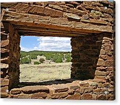 Abo Stoney Window Acrylic Print