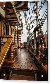Aboard The Tall Ship Peacemaker Acrylic Print by Dale Kincaid