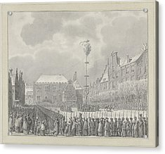 Abolition Of Stadhouderschap On The Grote Markt In Haarlem Acrylic Print