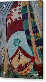 Aborigines Sail Acrylic Print by Avonelle Kelsey