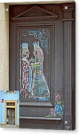 About Love. The Door. Next To Charles Bridge. Prague. Czech Republic. Acrylic Print by Andy Za