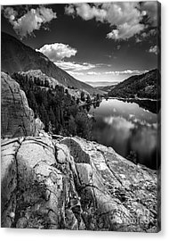 Above Cooney Lake Acrylic Print