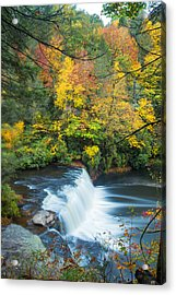 Above Hooker Falls Acrylic Print by Andres Leon