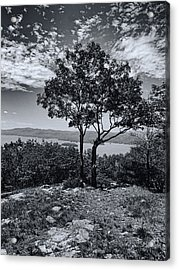 Above Lake George Black And White Acrylic Print by Joshua House