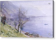 Above Montreux Acrylic Print by John William Inchbold