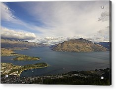Acrylic Print featuring the photograph Above Queenstown #2 by Stuart Litoff