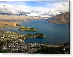 Acrylic Print featuring the photograph Above Queenstown by Stuart Litoff