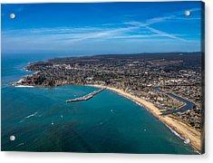 Above Santa Cruz California Looking West Acrylic Print