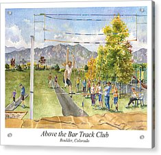 Above The Bar Track Club Poster Acrylic Print