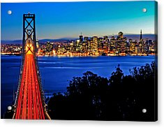 Above The Bay Bridge And San Francisco Skyline Acrylic Print