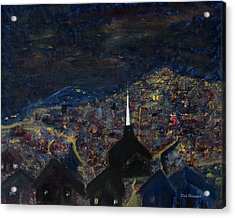 Above The City At Night Acrylic Print