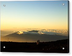 Acrylic Print featuring the photograph Above The Clouds by Cathy Donohoue