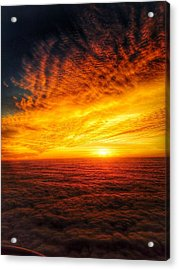 Above The Clouds Acrylic Print by Edward Johnston