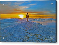 Above The Clouds Acrylic Print by Lynne Sutherland