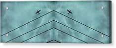 Above The Lines Blue Panorama Acrylic Print by Tony Grider