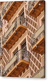 Above The Square Trieste Acrylic Print by Graham Hawcroft pixsellpix