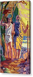Abraham Going To Offer Isaac His Son Acrylic Print by Anonymous