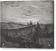 Abraham Journeying Into The Land Of Canaan Acrylic Print by Gustave Dore