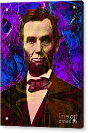 Abraham Lincoln 2014020502m118 Acrylic Print by Wingsdomain Art and Photography