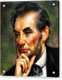 Abraham Lincoln - Abstract Realism Acrylic Print