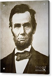 Abraham Lincoln Acrylic Print by Alexander Gardner