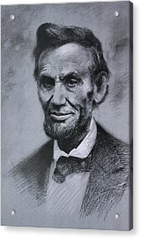 Acrylic Print featuring the drawing Abraham Lincoln by Viola El
