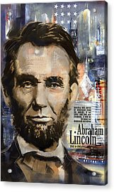 Abraham Lincoln Acrylic Print by Corporate Art Task Force