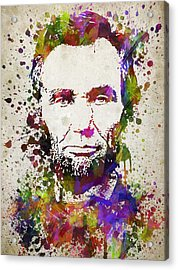 Abraham Lincoln In Color Acrylic Print by Aged Pixel