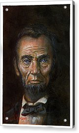Abraham Lincoln Acrylic Print by Jeff Brimley