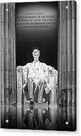 Abraham Lincoln Memorial Acrylic Print