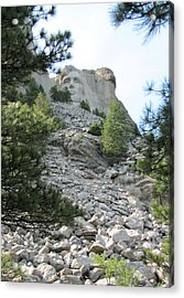 Abraham Lincoln - Mt. Rushmore Acrylic Print by Karen Gross