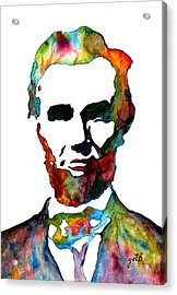 Abraham Lincoln Original Watercolor  Acrylic Print