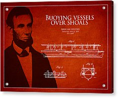 Abraham Lincoln Patent From 1849 Acrylic Print