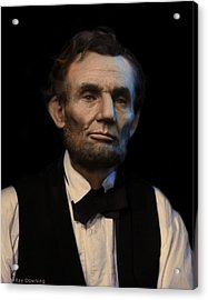 Abraham Lincoln Portrait Acrylic Print by Ray Downing