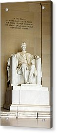 Abraham Lincolns Statue In A Memorial Acrylic Print by Panoramic Images
