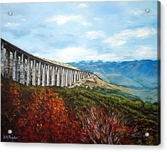 Acrylic Print featuring the painting Abruzzo Italian Countryside  by Donna Proctor
