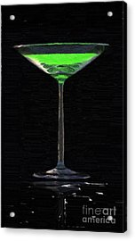 Absinth In The Glass Acrylic Print by Aleksey Tugolukov