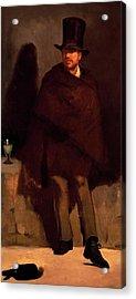 Absinthe Drinker Acrylic Print by Edouard Manet
