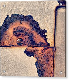 Absract Rust Acrylic Print by Christy Beckwith
