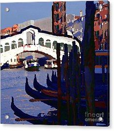 Abstract - Rialto Bridge Acrylic Print by Jacqueline M Lewis