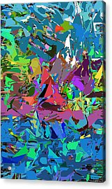 Abstract 011515 Acrylic Print by David Lane