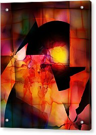 Acrylic Print featuring the digital art Abstract 012615 by David Lane
