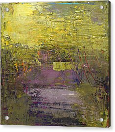 Abstract 2014 03 Acrylic Print by Becky Kim