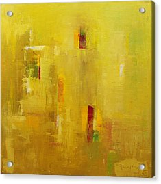 Abstract 2015 01 Acrylic Print by Becky Kim