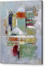 Abstract 2015 02 Acrylic Print by Becky Kim