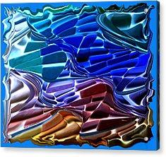 Abstract 215 2 Acrylic Print by Kae Cheatham